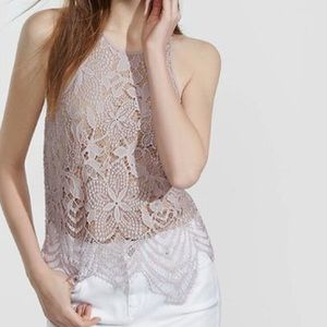 {Express} Lace Crochet Overlay Tank